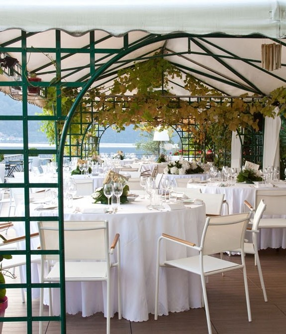 Magical terrace for marriage at Lake Orta