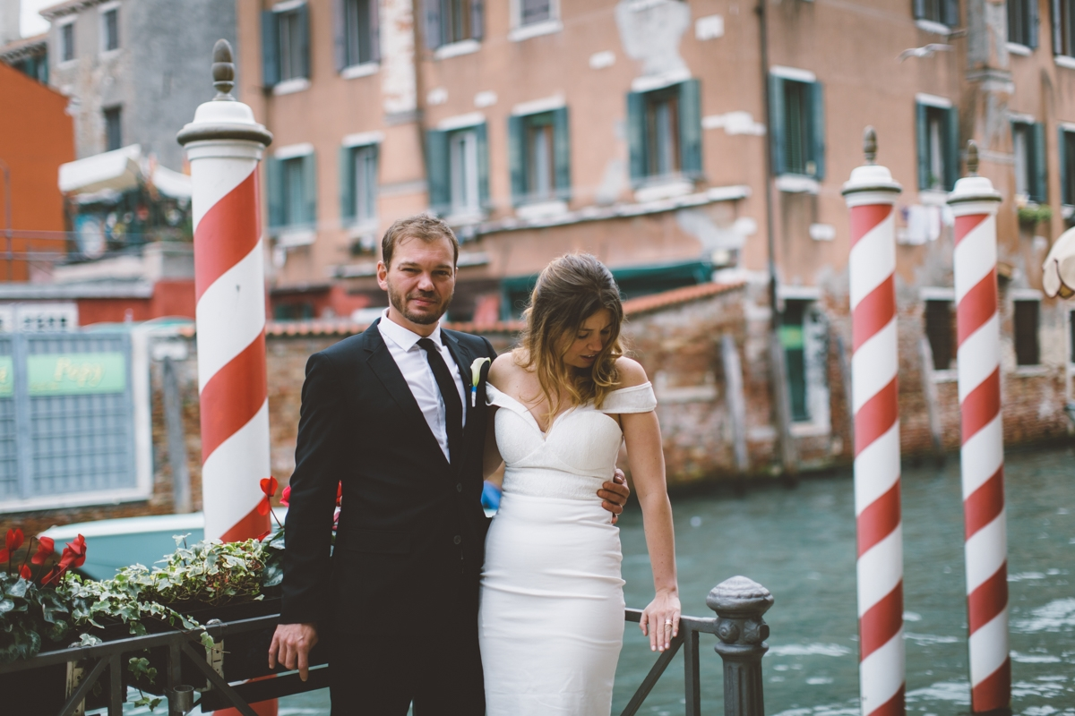 Symbolic ceremony for two in Venice – Inga and Florian