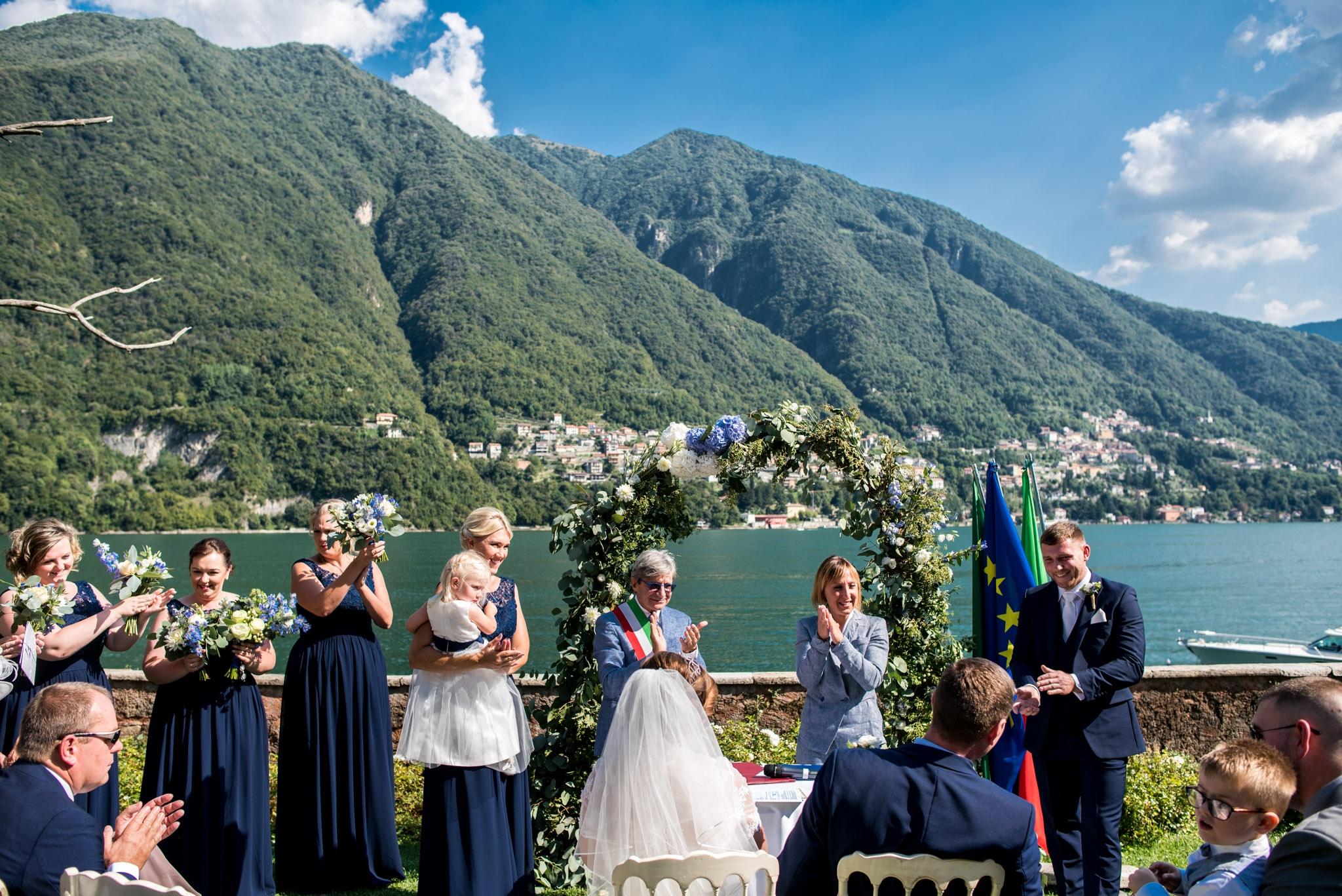 Civil ceremony Como Lake – Emma and Nathan