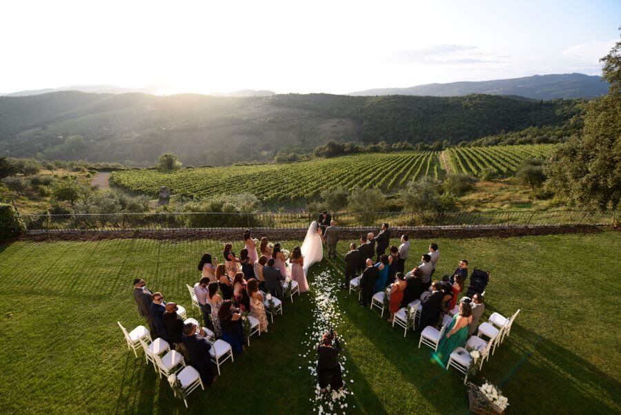 Protestant wedding in Tuscany