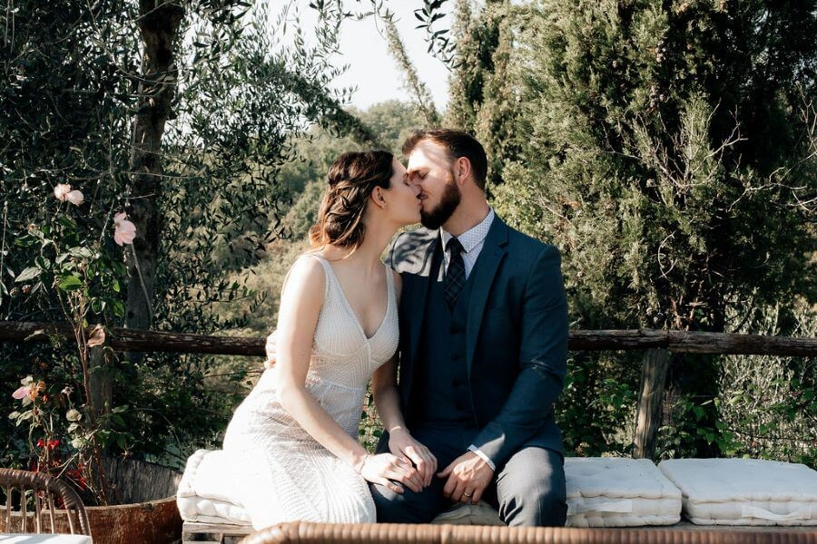 Intimate Vows Renewal in Tuscany