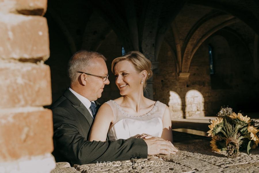 Amazing civil ceremony in San Galgano Abbey