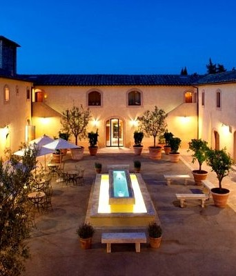 Luxury wedding ceremony in tuscany castle