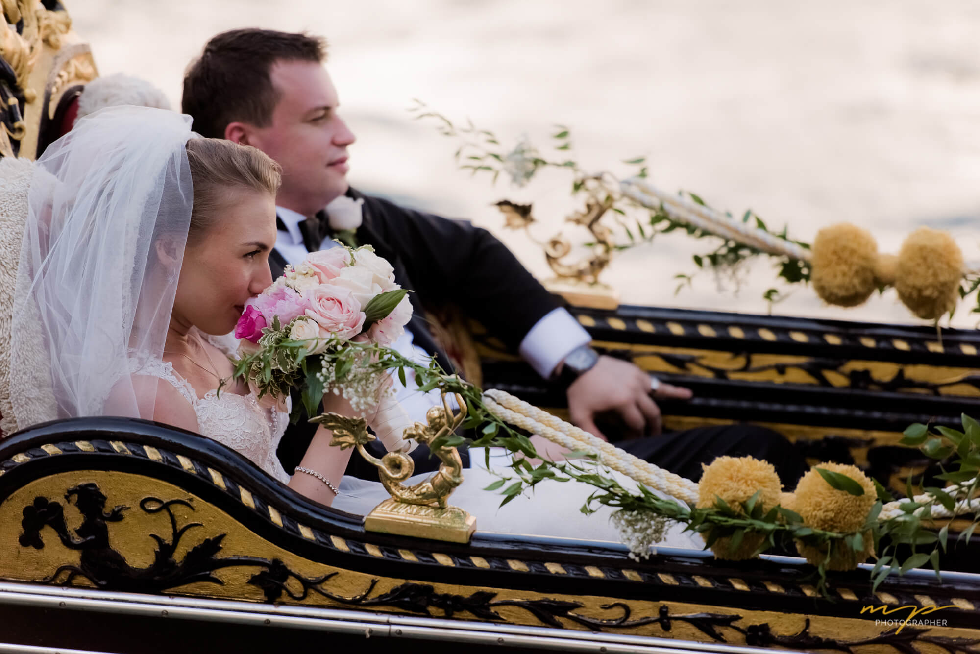 Wedding in a Gondola