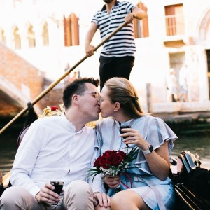 Marriage proposal in Venice – Domas and Aine